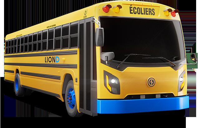 LionD - 100% electrique, Zero-Emission Bus Scolaire | Lion Electric